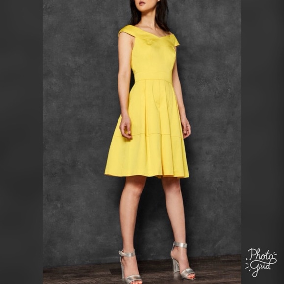 1a93118ce Ted Baker Jullee Off The Shoulder Dress- ChicEwe